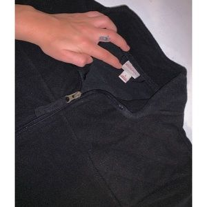 🌺 .•SALE•. Merona black fleece zip jacket
